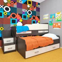 детский комплекс,кровать,пирамида,мебель,корпусная мебель,детская мебель,кровать