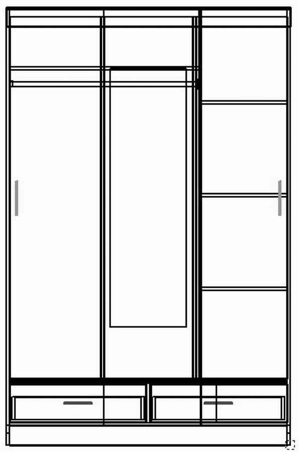 Шкаф-купе, шкаф, схема шкафа